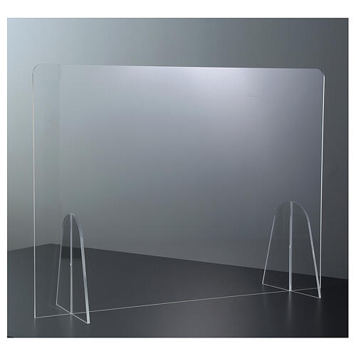 Plexiglass barrier shield- Goccia Design h 50x180 cm 2