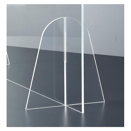 Plexiglass barrier shield- Goccia Design h 50x180 cm 4