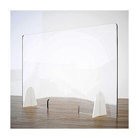 Protective plexiglass shield for counters- Goccia line krion h 50x70 cm- cutout h 8x32 cm s1