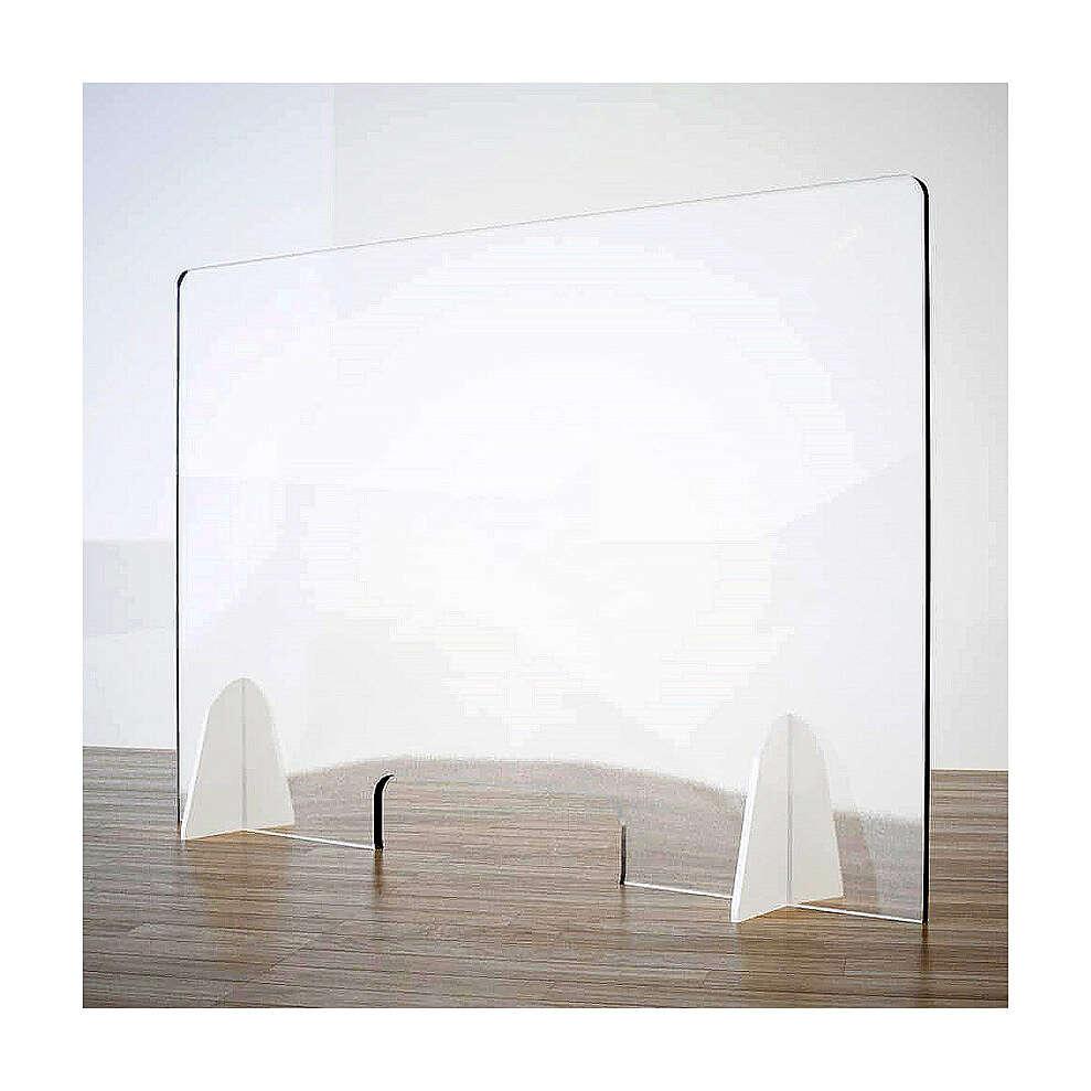 Cloison de protection pour banc - Goutte en krion h 65x95 cm fenêtre h 8x32 cm 3