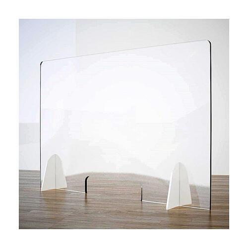 Cloison de protection pour banc - Goutte en krion h 65x95 cm fenêtre h 8x32 cm 1