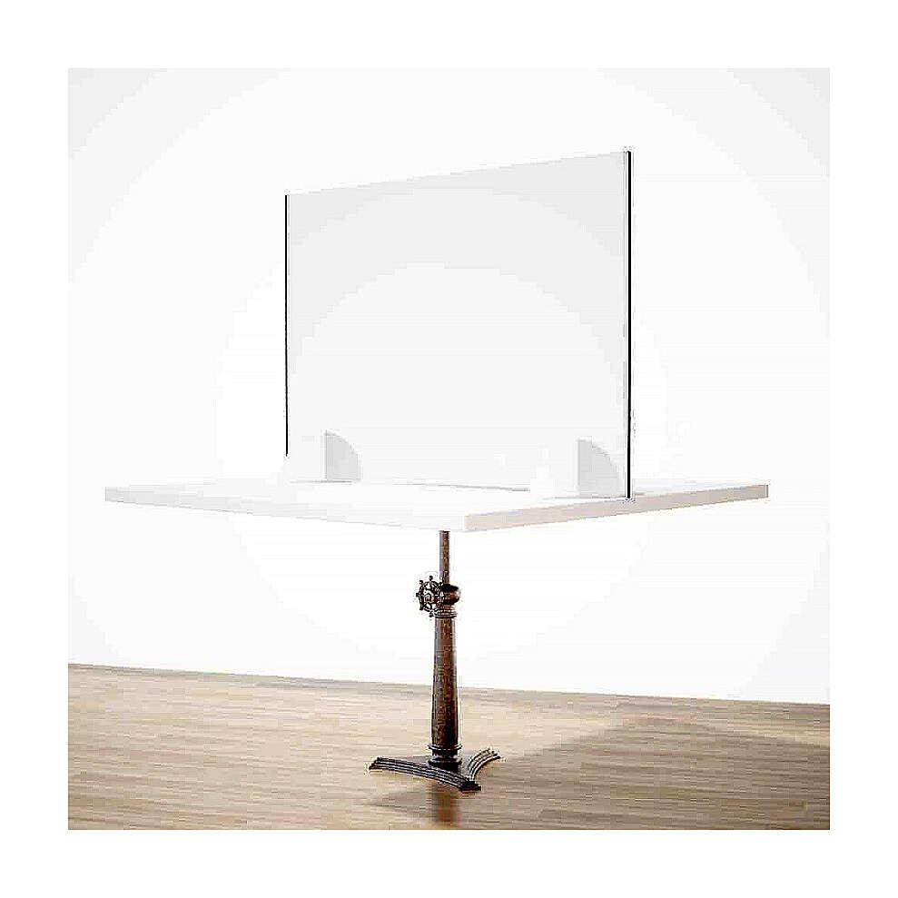 Barreira de proteção anti-contágio de mesa, linha Krion, Design Gota, 65x95 cm com abertura de 8x32 cm 3