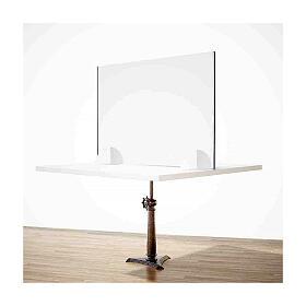 Barreira de proteção anti-contágio de mesa, linha Krion, Design Gota, 65x95 cm com abertura de 8x32 cm s2