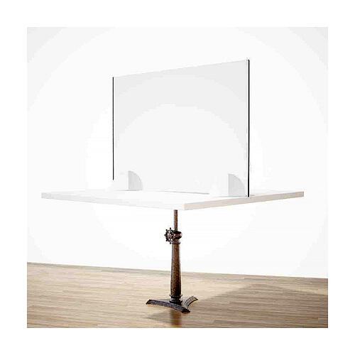 Barreira de proteção anti-contágio de mesa, linha Krion, Design Gota, 65x95 cm com abertura de 8x32 cm 2