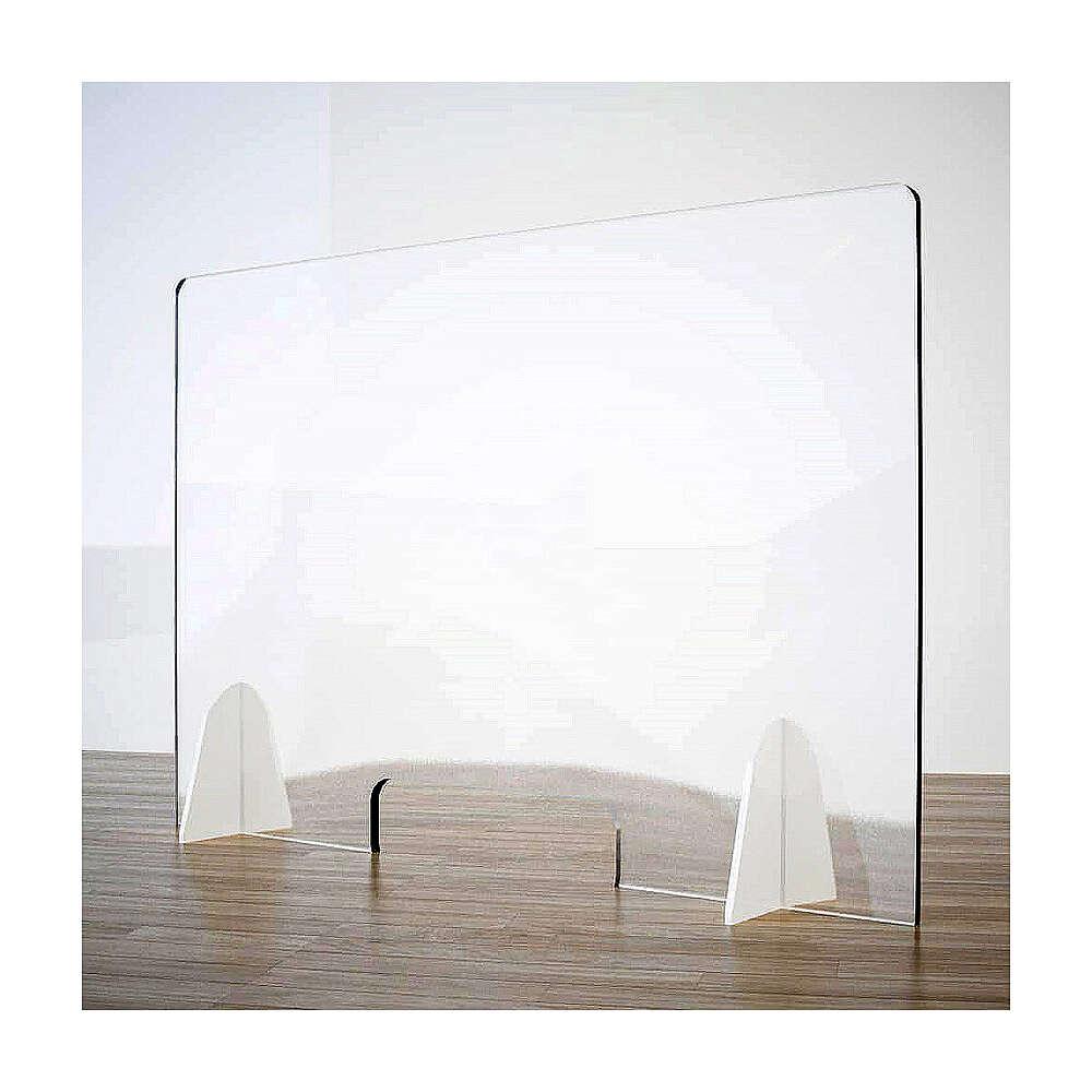 Barrière anti-contamination pour banc - Goutte en krion h 65x120 cm - fenêtre h 8x32 cm 3
