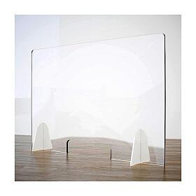 Barrière anti-contamination pour banc - Goutte en krion h 65x120 cm - fenêtre h 8x32 cm s1