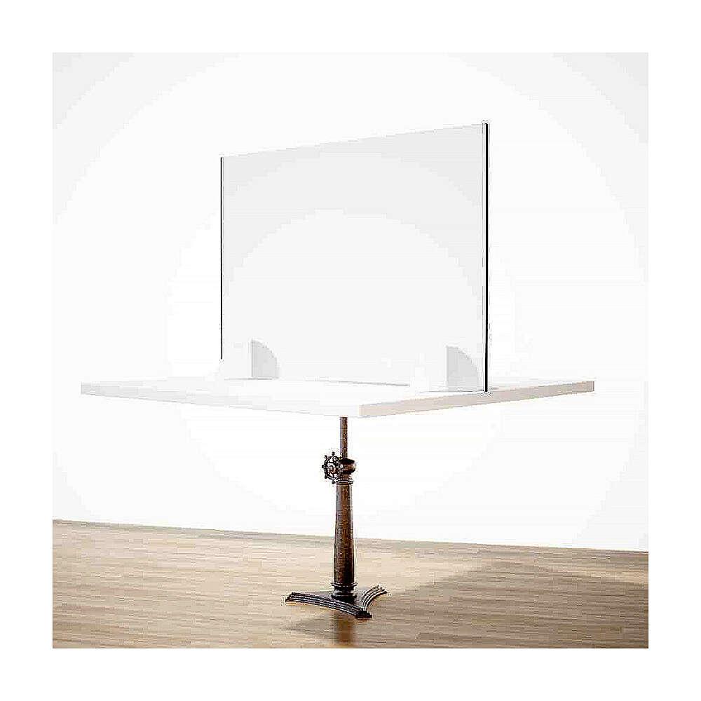Barreira de proteção anti-contágio de mesa, linha Krion, Design Gota, 65x120 cm com abertura de 8x32 cm 3