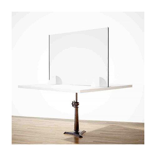 Barreira de proteção anti-contágio de mesa, linha Krion, Design Gota, 65x120 cm com abertura de 8x32 cm 2