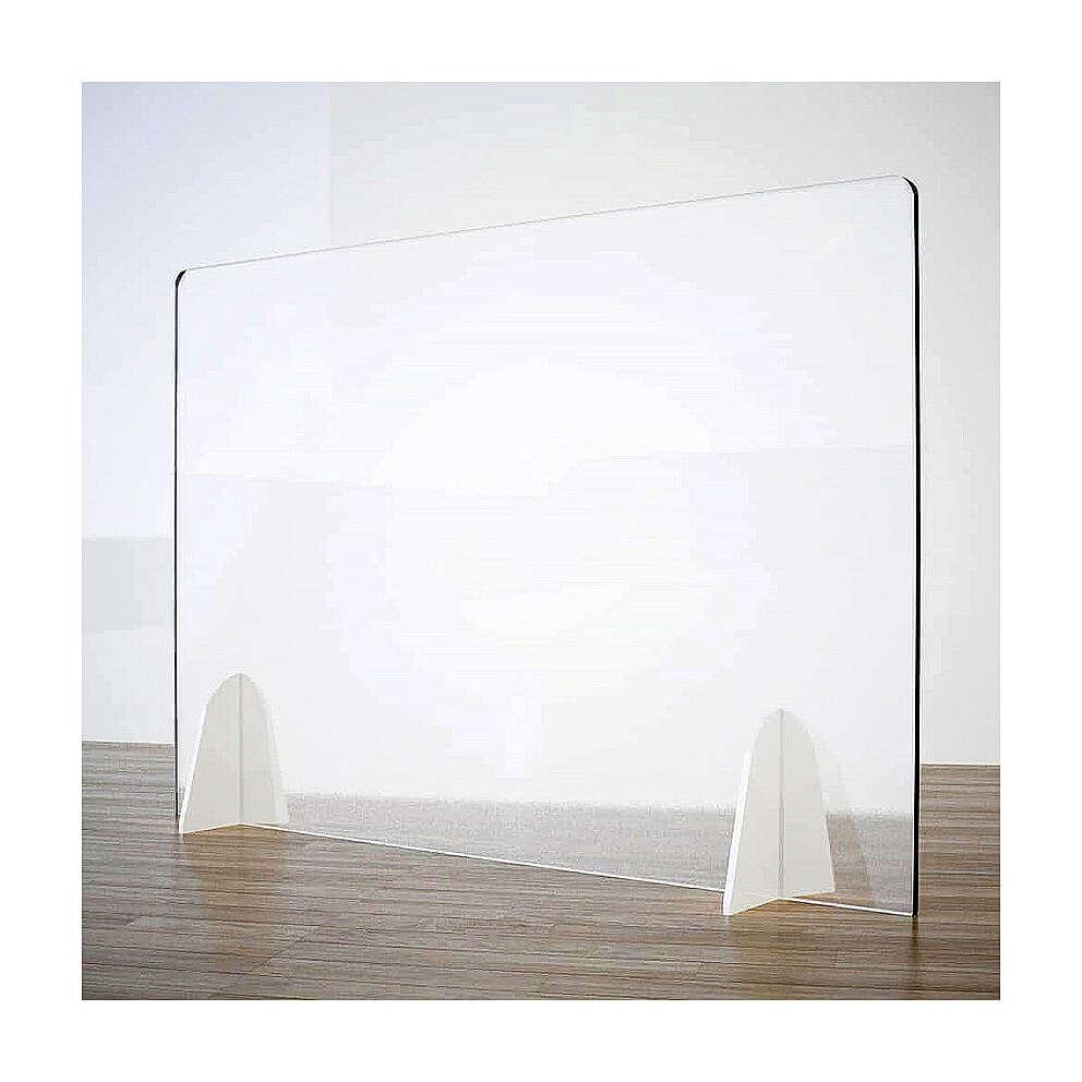 Schermo Parafiato Tavolo - Design Goccia krion h 50x90 3