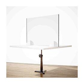 Schermo Parafiato Tavolo - Design Goccia krion h 50x90 s2