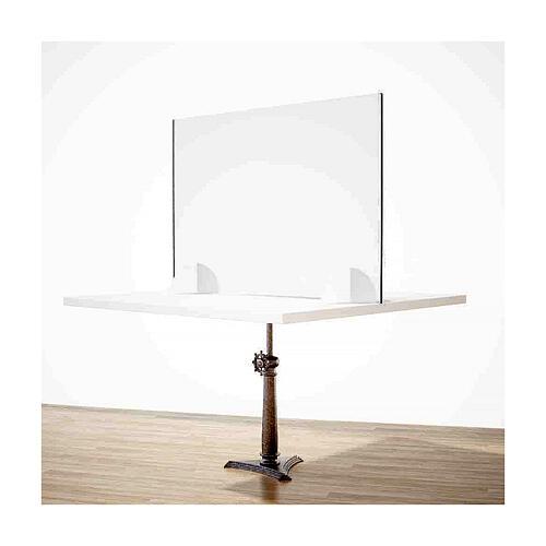 Schermo Parafiato Tavolo - Design Goccia krion h 50x90 2