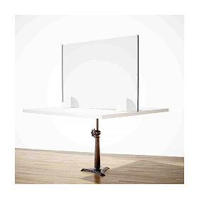 Cloison pour table - Design Goutte gamme krion h 50x140 cm s2