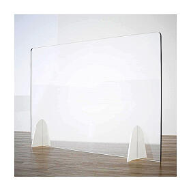 Plexiglass screen for table- Goccia Design h 50x180 cm s1