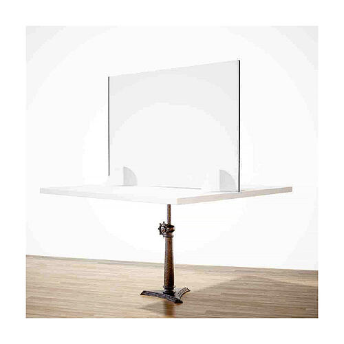 Plexiglass screen for table- Goccia Design h 50x180 cm 2
