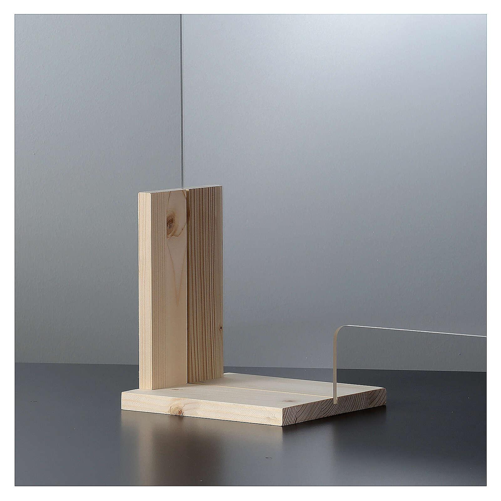 Panel Anti-aliento Design Wood h 65x95 - ventana h 8x32 3