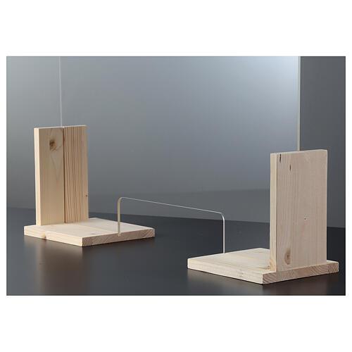 Panel anti-aliento de Banco - Wood h 65x120 y ventana h 8x32 3