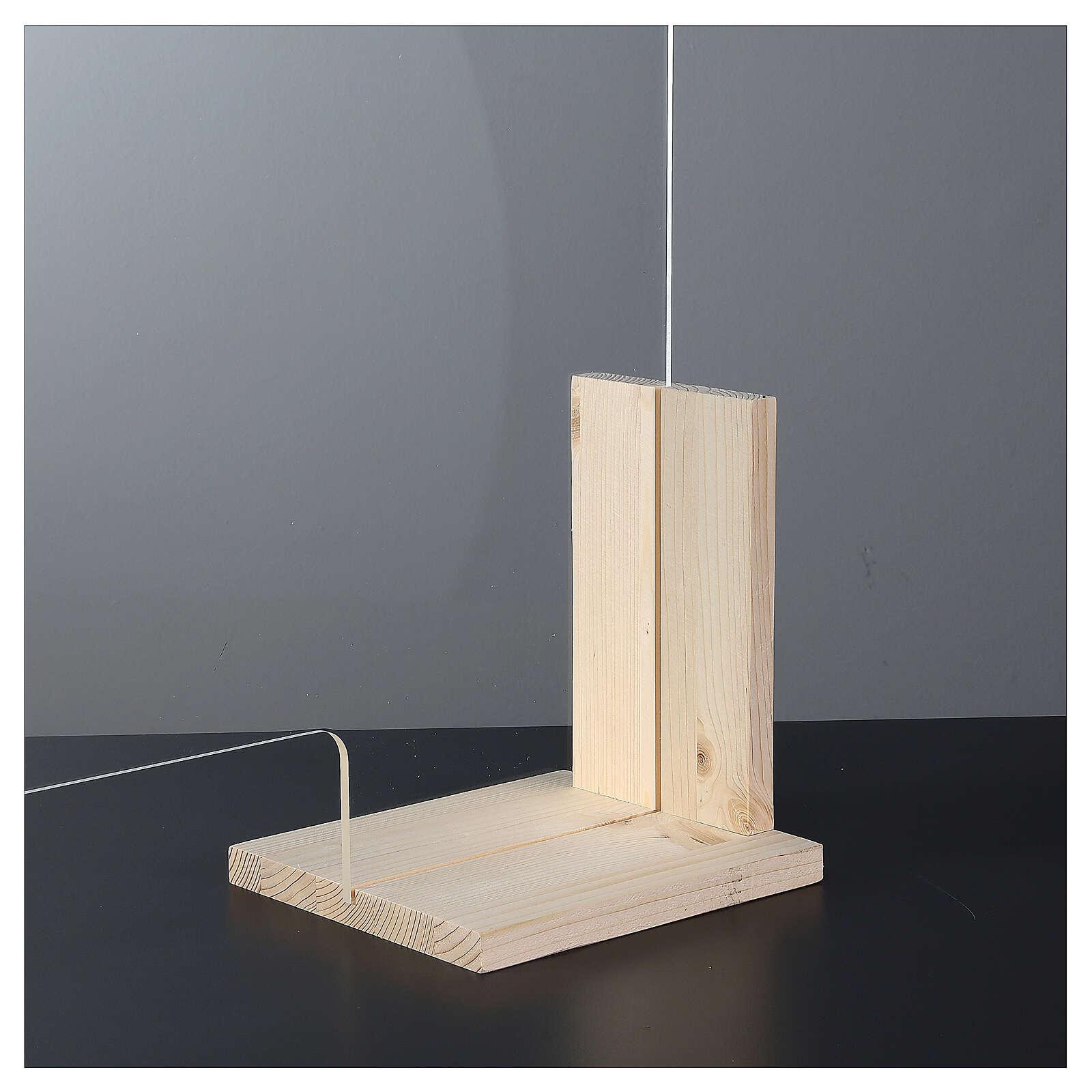 Barreira de proteção anti-contágio de mesa, Linha Wood, 65x120 cm com abertura de 8x32 cm 3