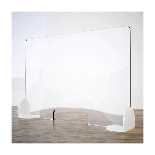 Barreira de proteção anti-contágio de mesa, linha Krion, Design Book, 50x70 cm com abertura de 8x32 cm 1
