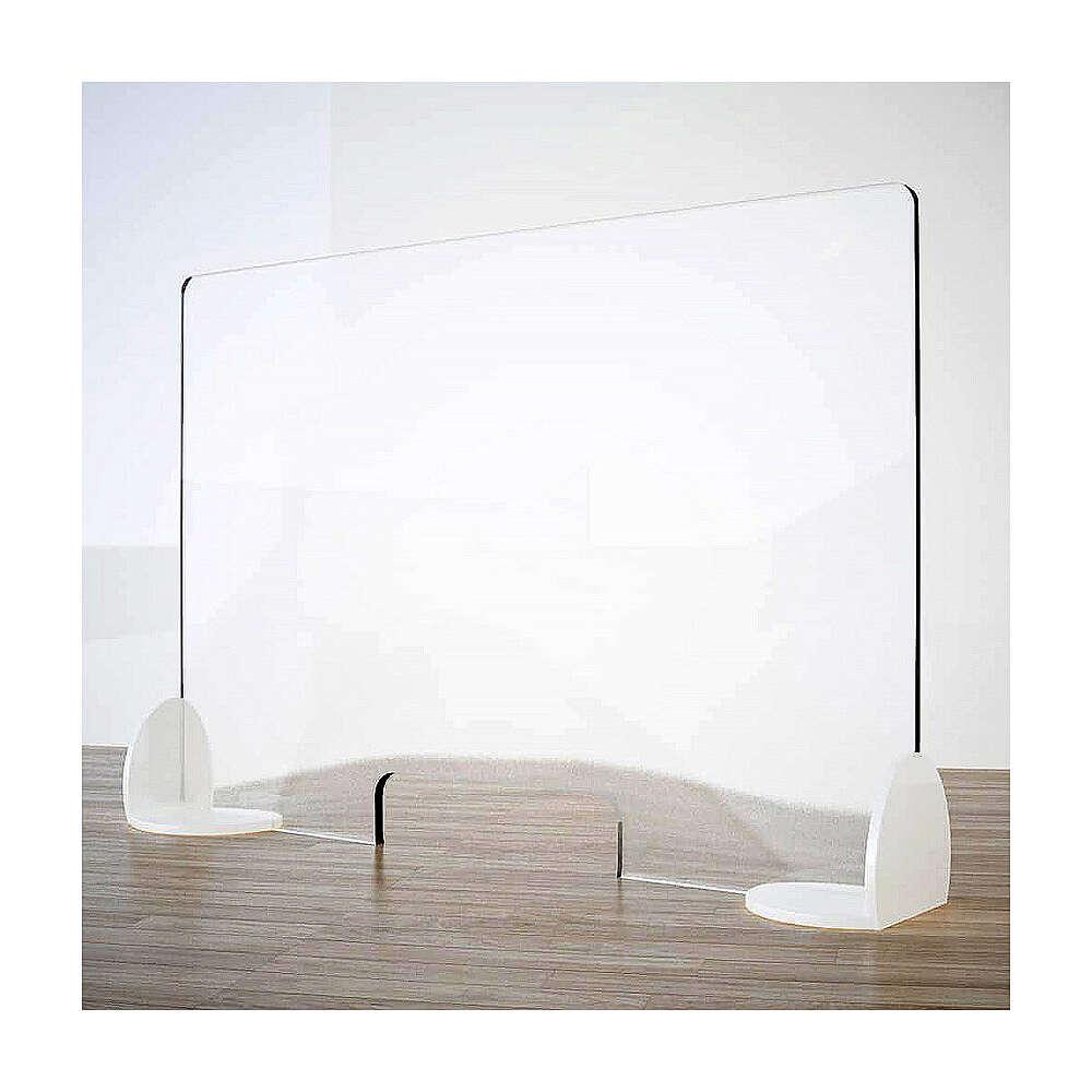 Barreira de proteção anti-contágio de mesa, linha Krion, Design Book, 65x95 cm com abertura de 8x32 cm 3