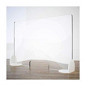 Plexiglass counter shield Book Design krion h 65x95 cm with cutout h 8x32 cm s1