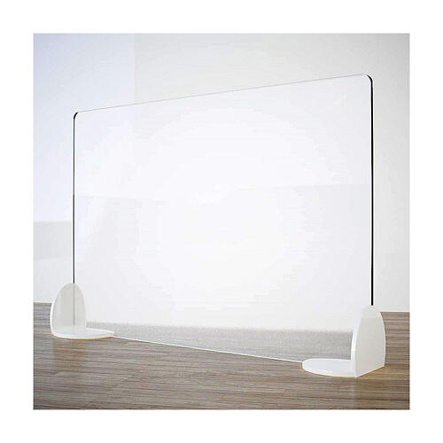 Sneeze guard shield for desks tables- Book Line in krion h 50x90 cm 1