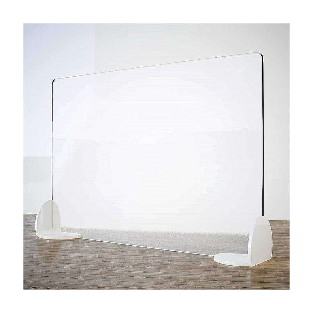 Free-standing plexiglass screen for tables- Book Design line krion h 50x180 cm 3