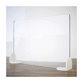 Free-standing plexiglass screen for tables- Book Design line krion h 50x180 cm s1
