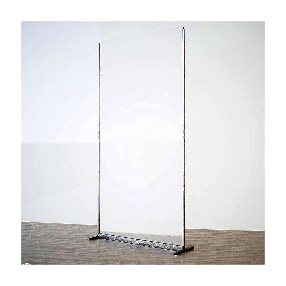 Wall in plexiglass with metal supports h 190x90 3