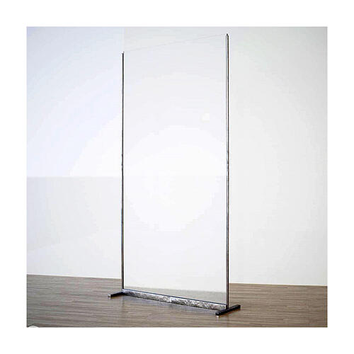 Plexiglass divider h 190x90 cm with metal supports 1