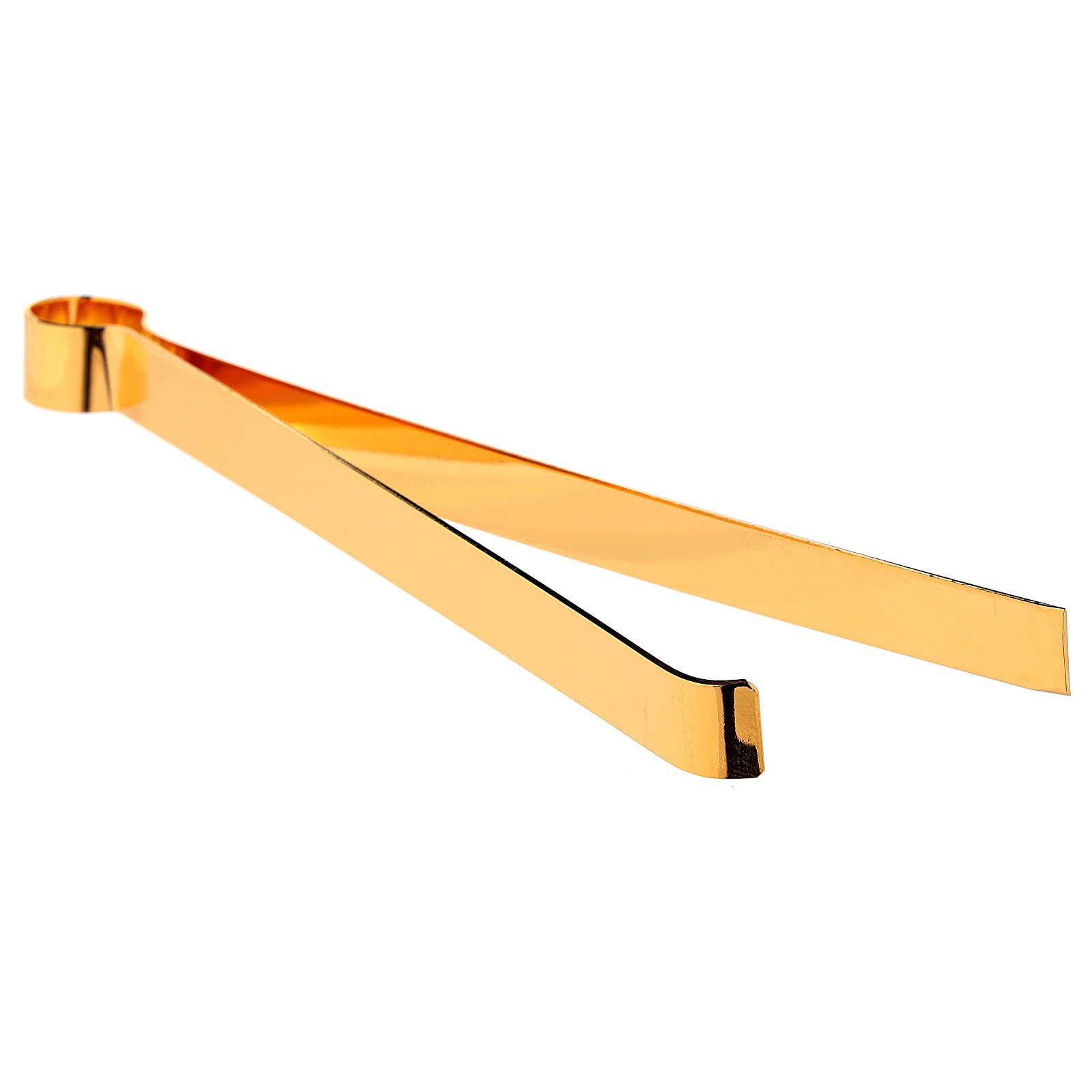 Hostienzange aus vergoldetem Messing, 16 cm 3