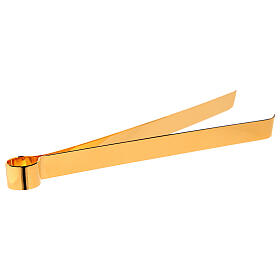 Hostienzange aus vergoldetem Messing, 16 cm s1