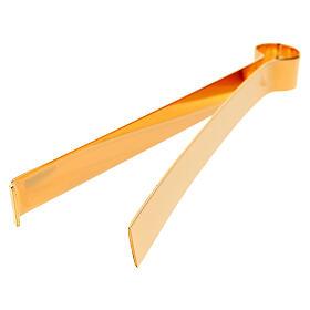 Hostienzange aus vergoldetem Messing, 16 cm s5