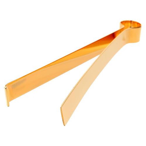 Hostienzange aus vergoldetem Messing, 16 cm 5