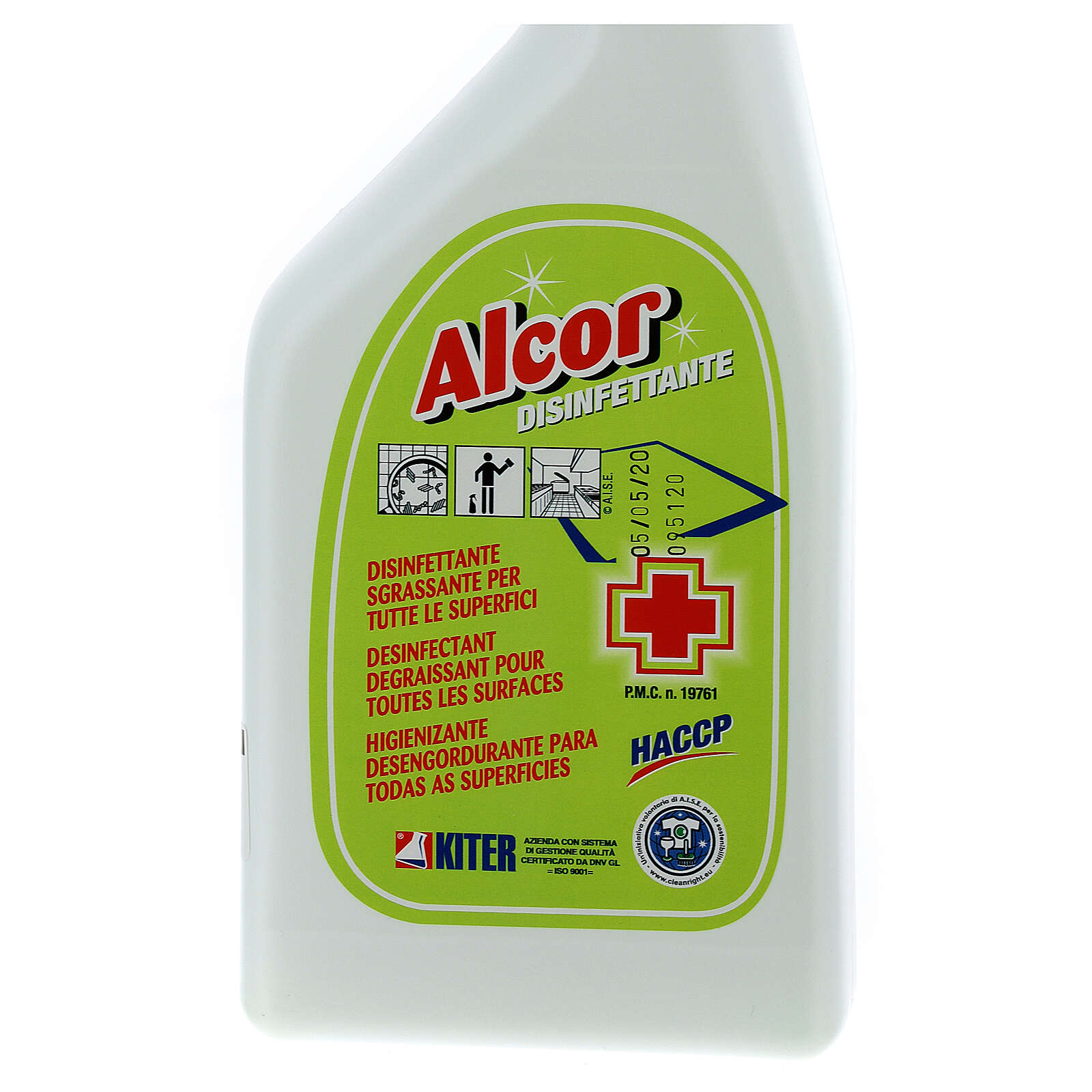 Désinfectant Spray professionnel Alcor 750 ml 3