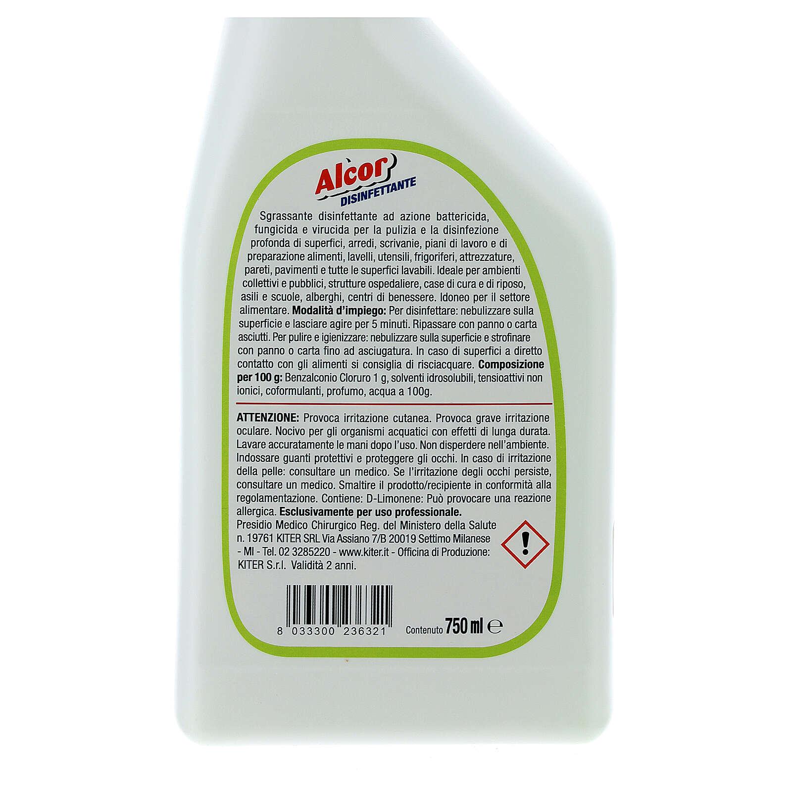Disinfectant spray professional-grade, Alcor 750 ml 3