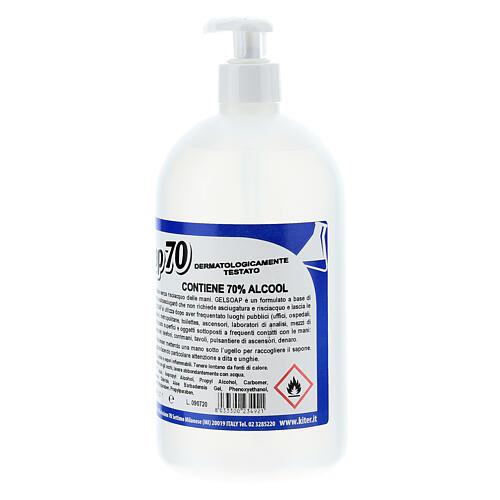 Desinfetante para mãos Gelsoap70 - 1 litro 2