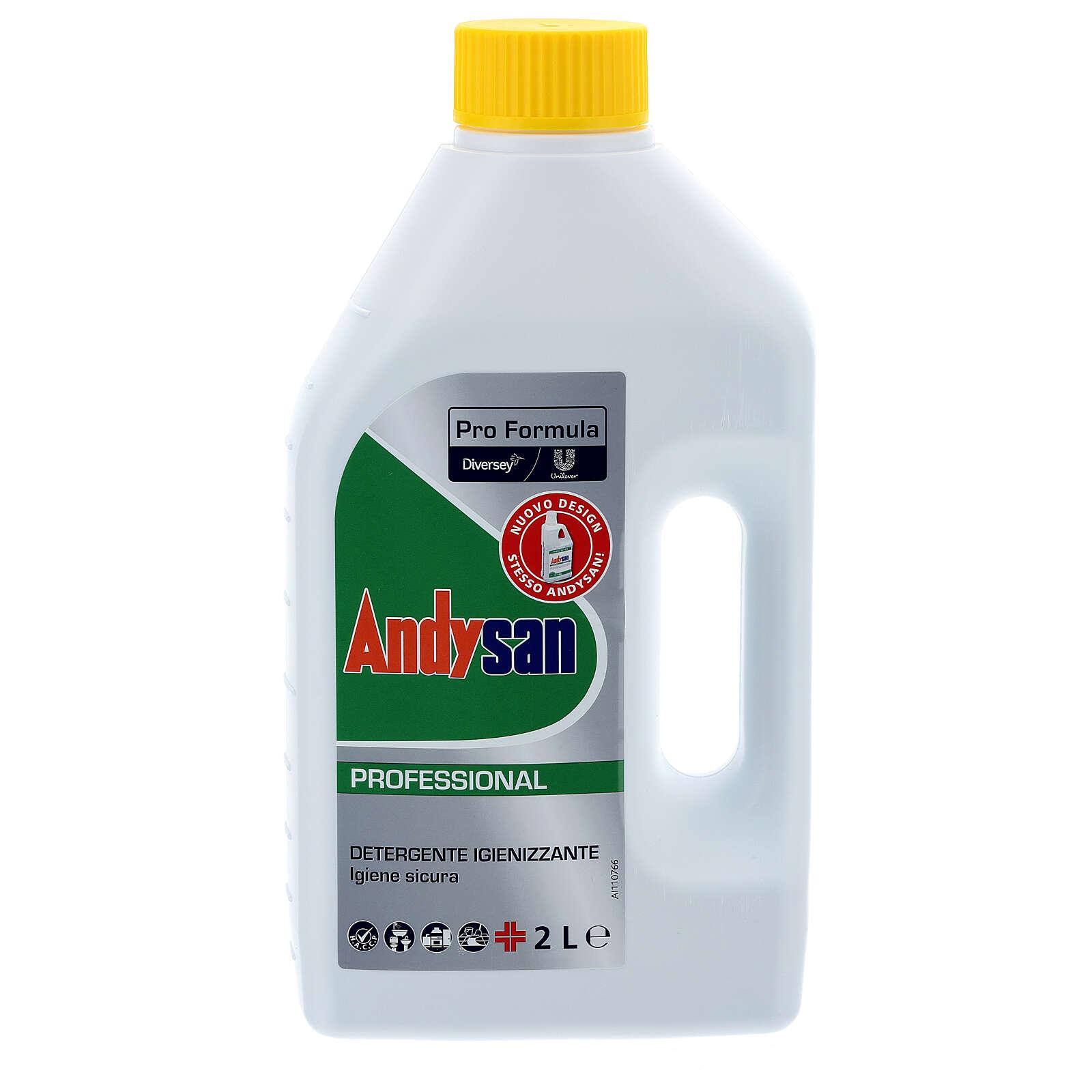 Détergent assainissant professionnel Andysan 2 litres 3