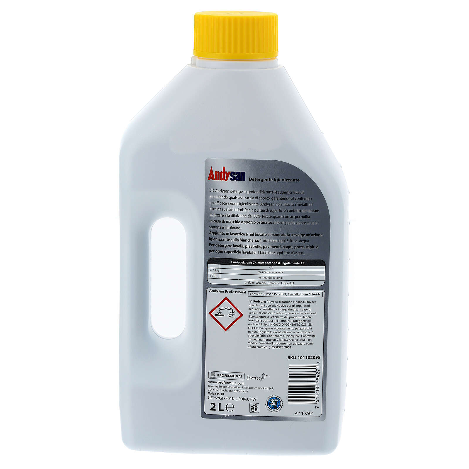 Detergente igienizzante professionale Andysan 2 litri 3
