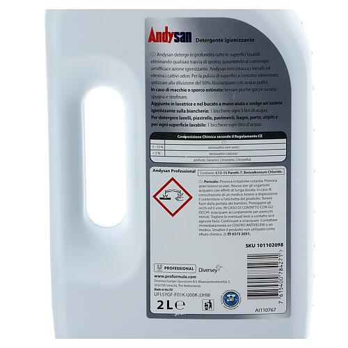 Detergente igienizzante professionale Andysan 2 litri 4