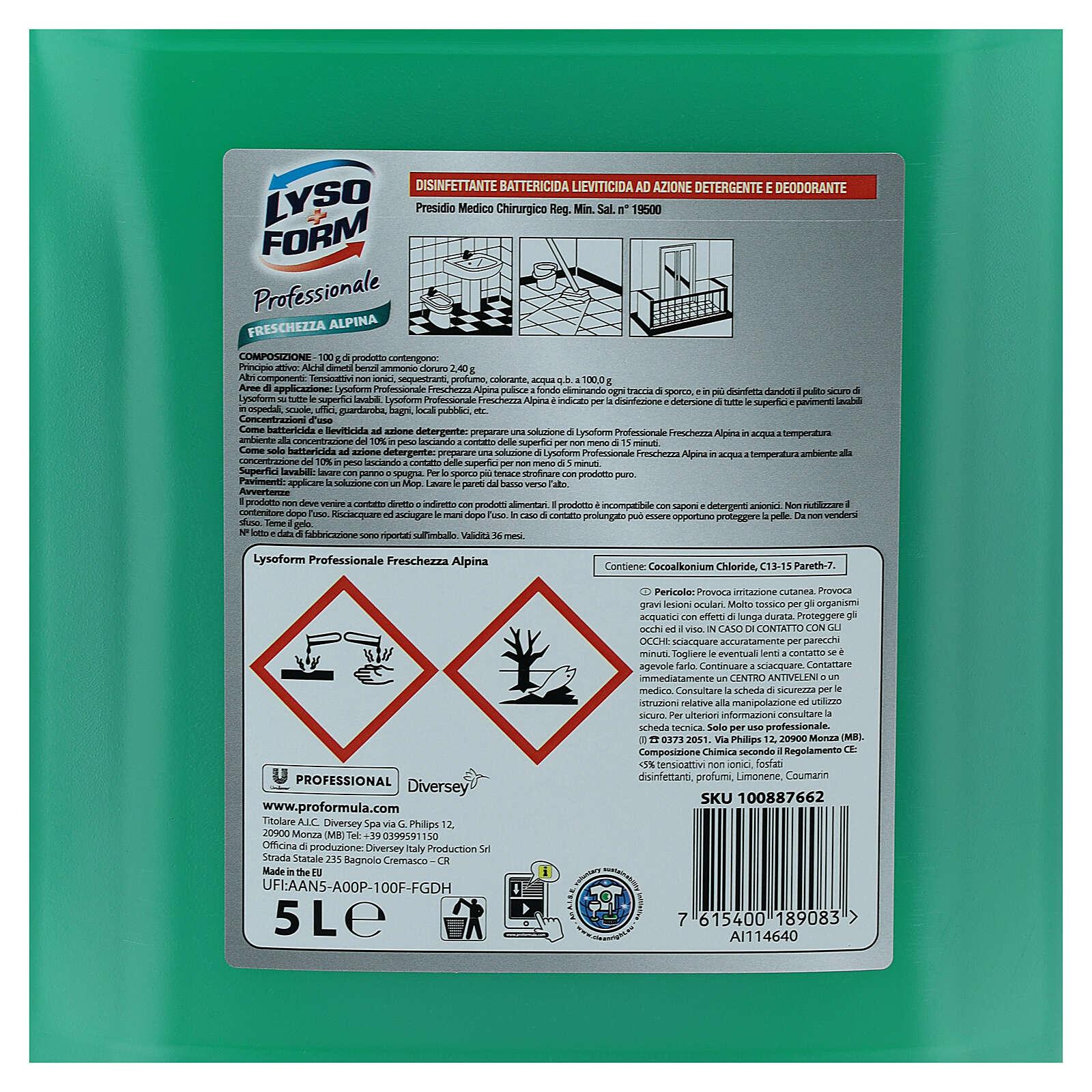 Reinigungsmittel Pro Formula von Lysoform, 5-Liter-Kanister 3