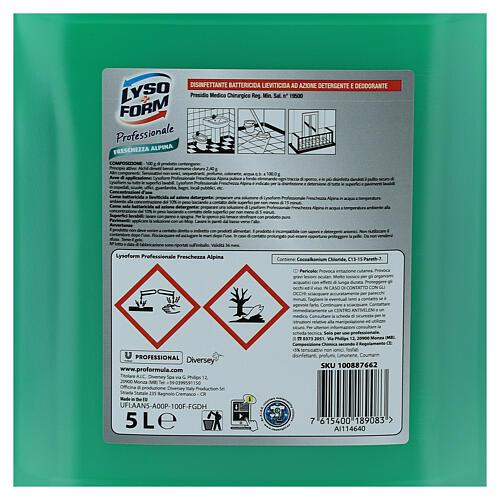 Cleansing tank Pro Formula Lysoform Alpine freshness, 5 liters 4