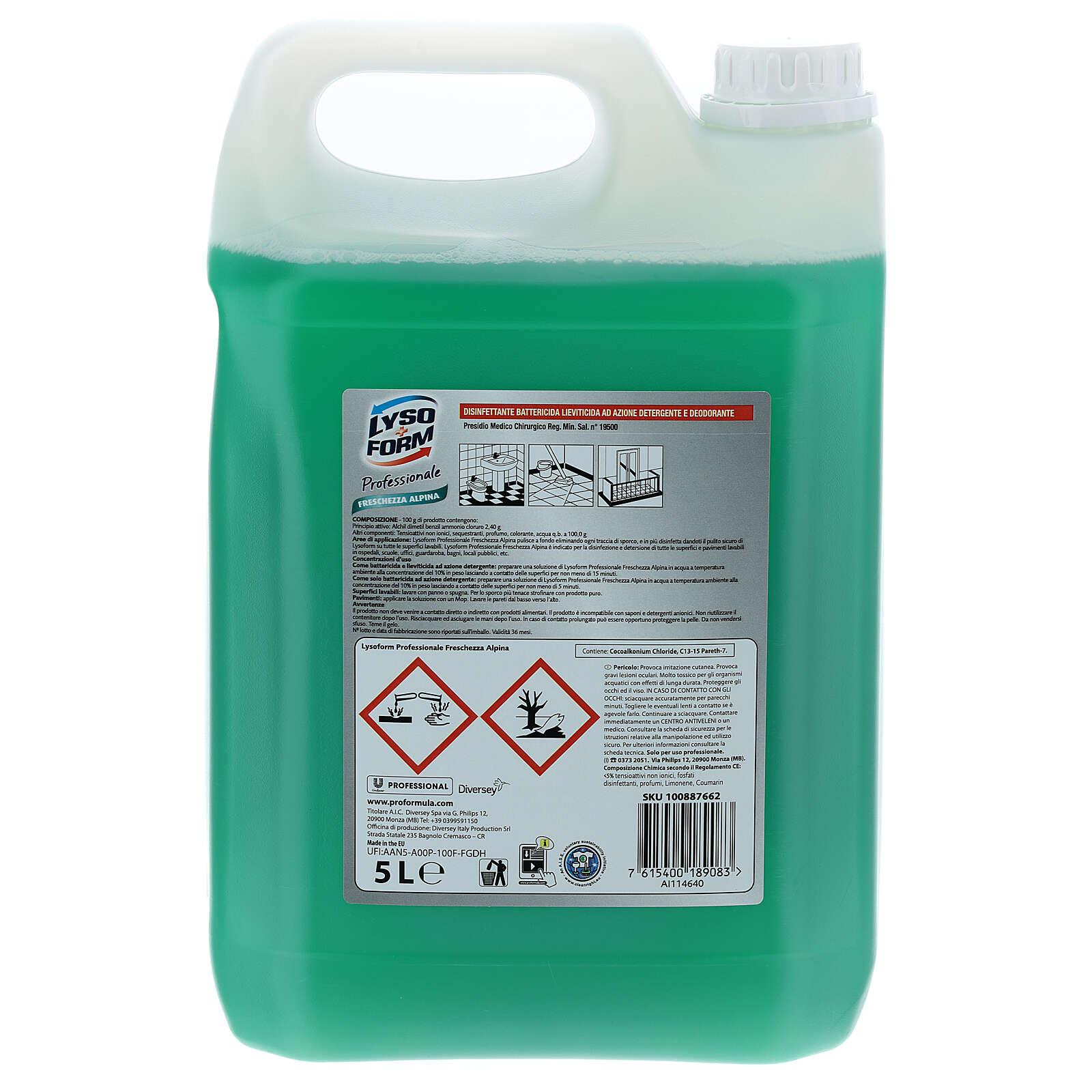 Tanica detergente Pro Formula Lysoform 5 litri 3