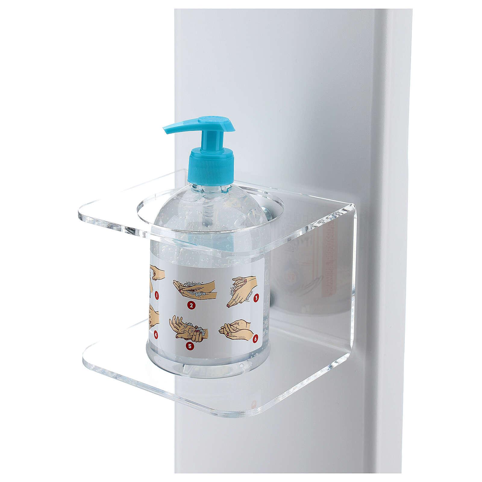 Columna dispensador desinfectante manos con estante guantes y cesto EXTERIOR 3
