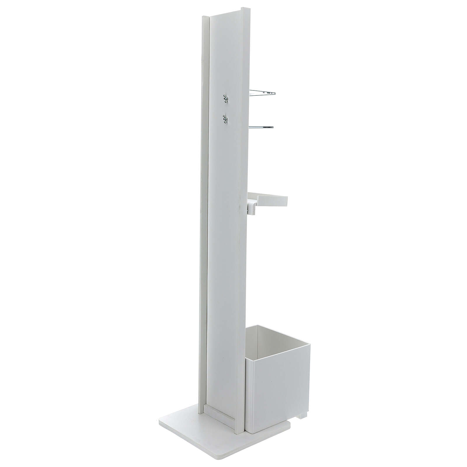 Hand sanitizer dispenser stand with gloves shelf and waste bin OUTDOOR USE 3