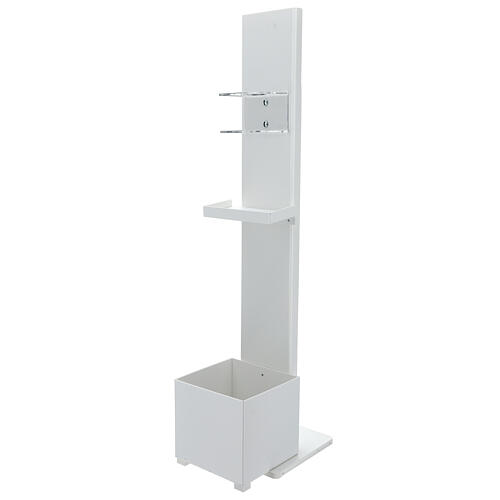 Hand sanitizer dispenser stand with gloves shelf and waste bin OUTDOOR USE 1