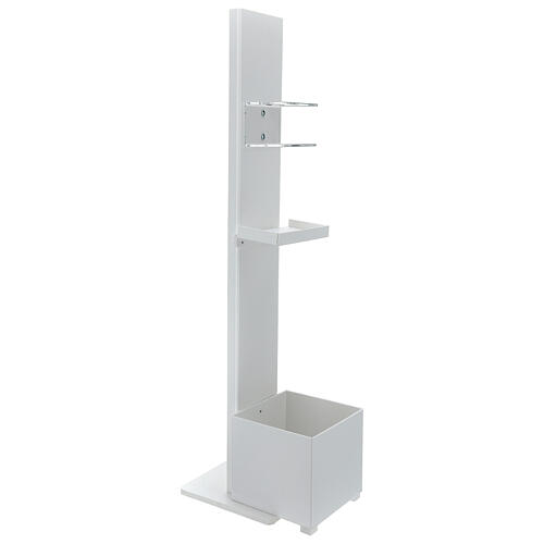 Hand sanitizer dispenser stand with gloves shelf and waste bin OUTDOOR USE 4