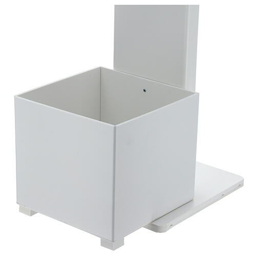 Hand sanitizer dispenser stand with gloves shelf and waste bin OUTDOOR USE 6
