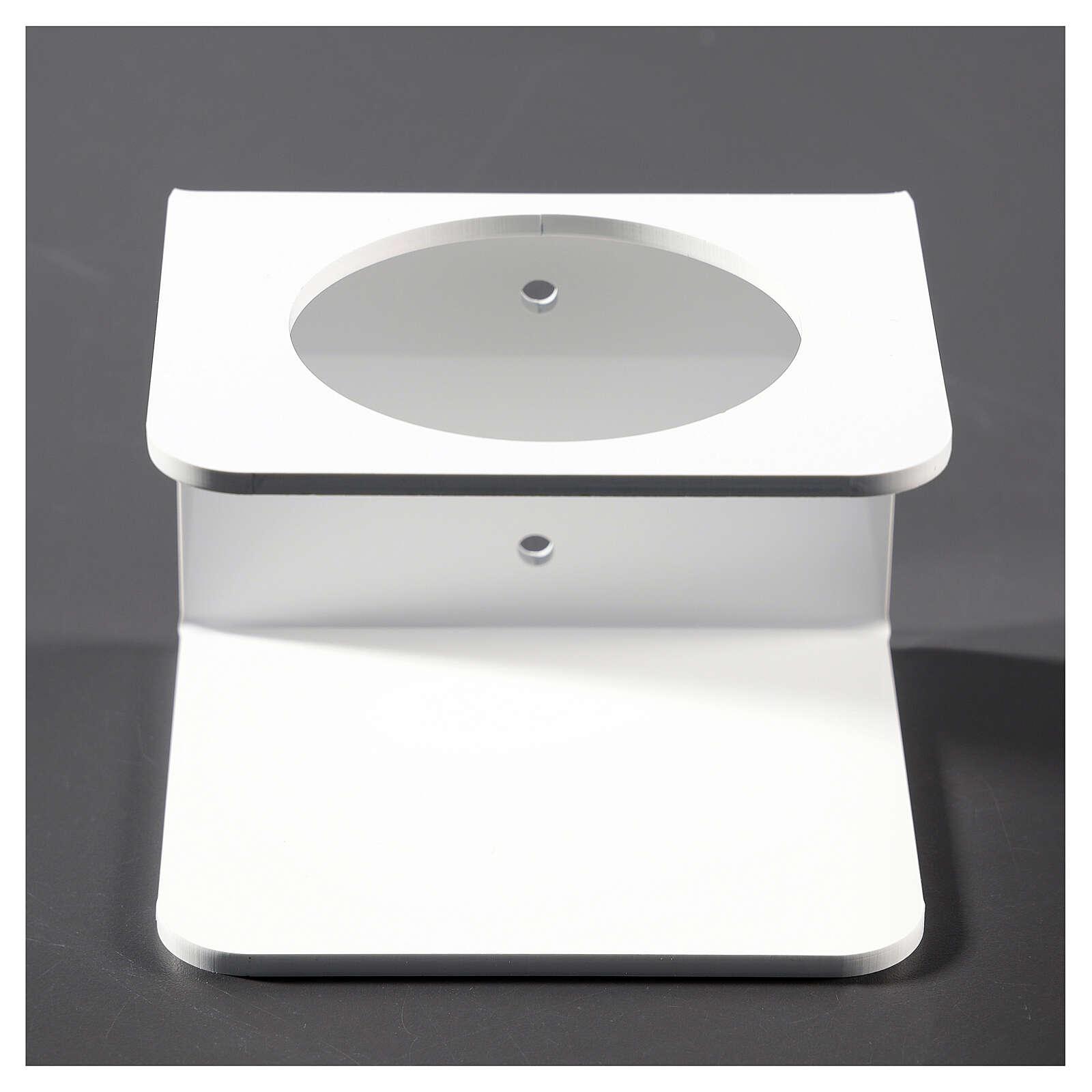 Wandhalter aus weißem Plexiglas für Händedesinfektionsmittel 3