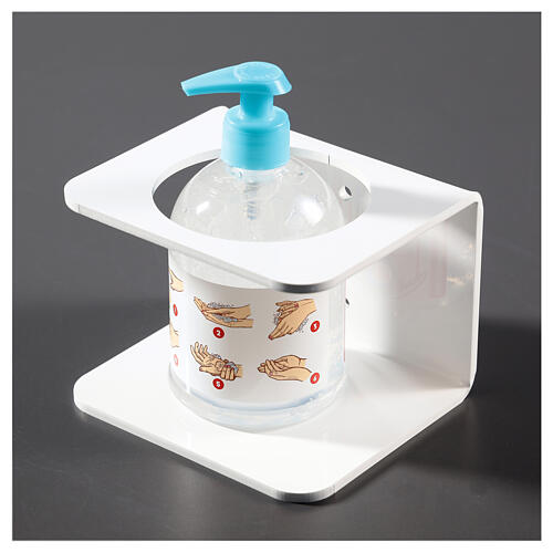 Porta-dispensador de plexiglás Blanco para desinfectante 2