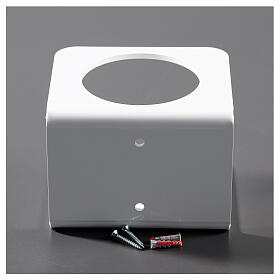 Porta dispenser in plexiglass Bianco per disinfettante s4